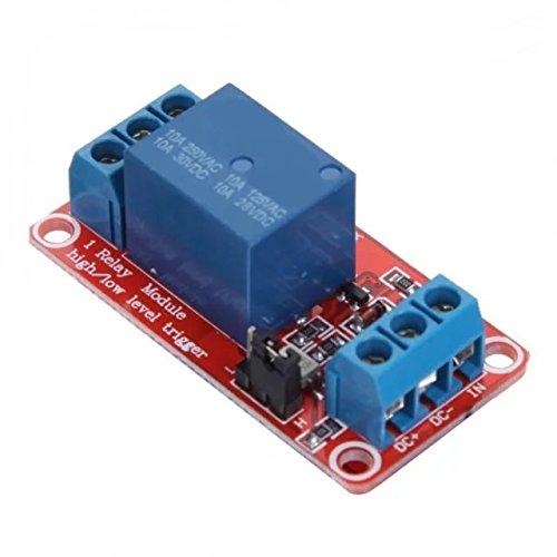 Goliton Professionale PLC Relšš di potenza 5V 1-Channel modulo relšš con accoppiatore ottico H / L livello di trigger per Arduino 5mA BS