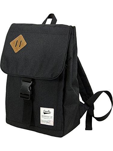 [アネロ]anello ポリキャンバス スクエア リュック デイパック Sサイズ 【オリジナル エコバッグ付】 AU-A0133 ブラック
