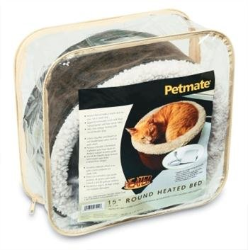 Dog Supplies Petmate Heated Bed Bomber Leather