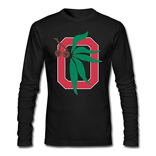 [ZHENGAIMEI Men Ohio State Buckeyes Long Sleeve Tshirt] (Cheerleader Outfit For Sale)