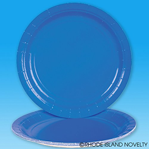 """Lot Of 25 Blue Dinner Lunch Paper Plates - 9"""""""