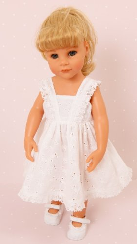 Broderie Anglaise Dolls dress for Small 14-18 inch [ 35-45 cm dolls and bears] Dress Only