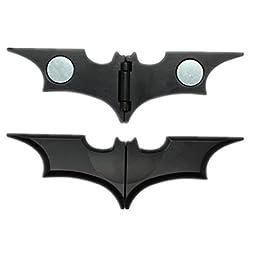 Sunshine Wholesale Unisex\'s Zinc Alloy Man Batman Batarang Money Clip Black/Gold Free with Jewelry Box
