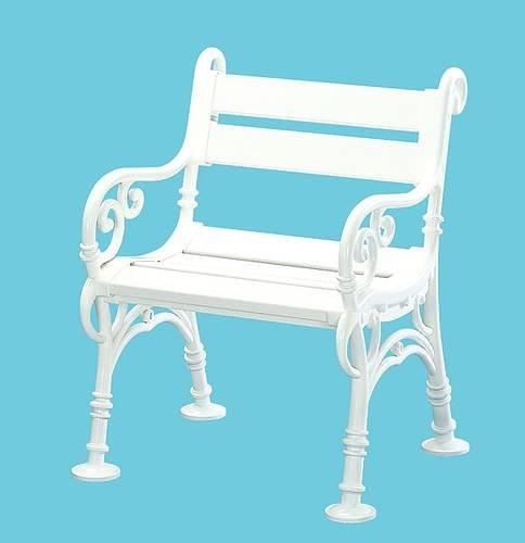Wetterfester Sessel LINDERHOF, Kunststoff weiss online bestellen