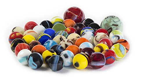 glass-marbles-bulk-set-of-50-48-players-and-2-shooters-assorted-colors-styles-and-finishes-with-game