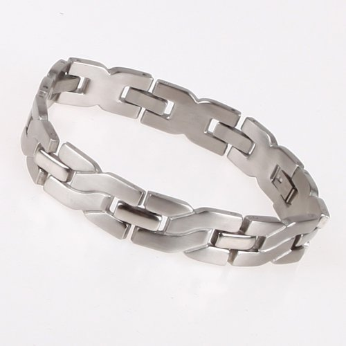 Stainless Steel Designer Gift for Mens Hinge link Bracelet with Gift Box JB1002