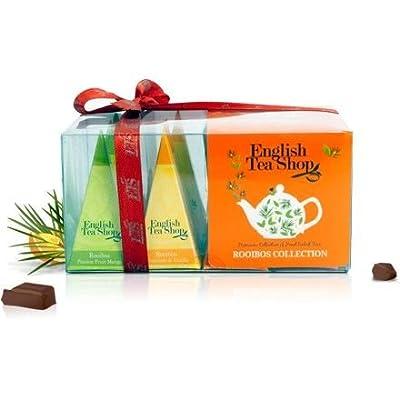 """English Tea Shop - Teegeschenk """"Rooibos Tee Kollektion"""" mit Schleife, 12 Pyramiden-Beutel in 4 verschiedenen Geschmacksrichtungen von English Tea Shop bei Gewürze Shop"""
