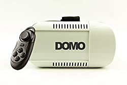 DOMO VR8 nHance for Smart Phones upto 4 to 6 Screen 3D Video VR Headset for Redmi MI Note 3, Best support for Lenovo TheaterMax Lenovo K4 Note, K5 Note and Vibe X3 Google Cardboard Universal Virtual Reality with external bluetooth controller