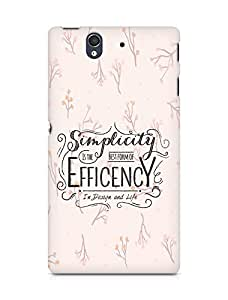 Amez Simplicity is the best form of Efficency Back Cover For Sony Xperia Z
