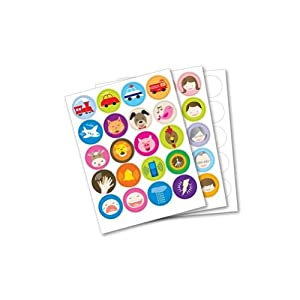 Franklin Anybook Sticker Package - Red qty. 200 DAS-200R