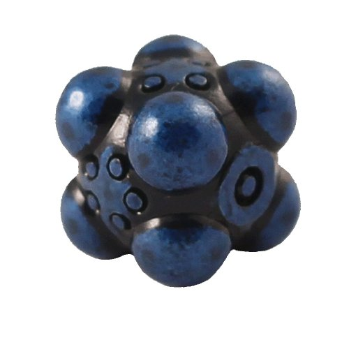 1 (One) Single IronDie: Solid Metal Italian Dice - Blue Nullifier (Die-Cast Designer Six-Sided Die / d6) - 1