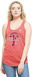 MLB Philadelphia Phillies Women's Splash Tank Top, Cranberry, Large