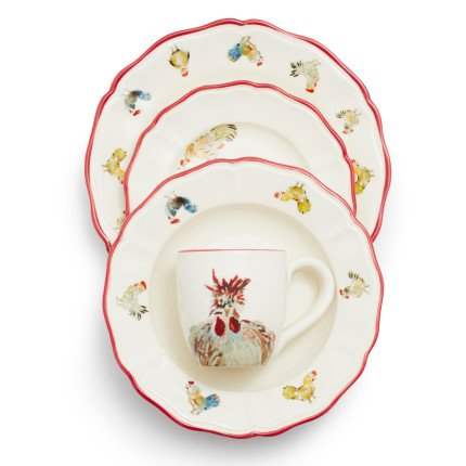 Sur La Table Jacques Pepin Collection 16-Piece Chickens Dinnerware Set 2016/87 (Chicken Dinnerware compare prices)