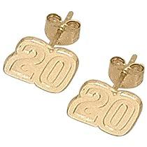 LogoArt Joey Logano 10K Very Small Number Post Earrings - JOEY LOGANO One Size