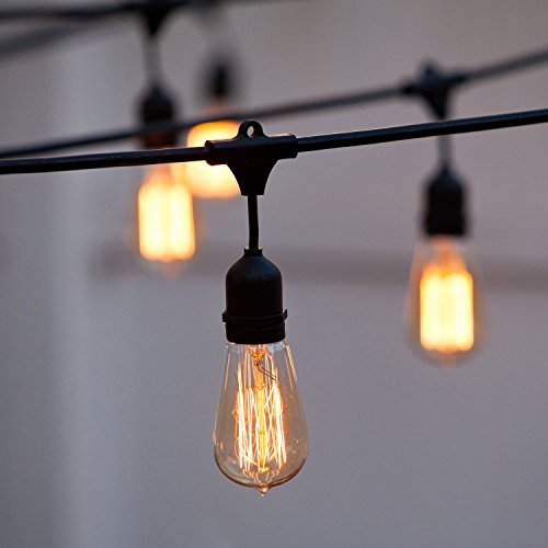 String Lights Bulb Cord 10-Socket Connectable Strand Vintage Filament No Bulb eBay