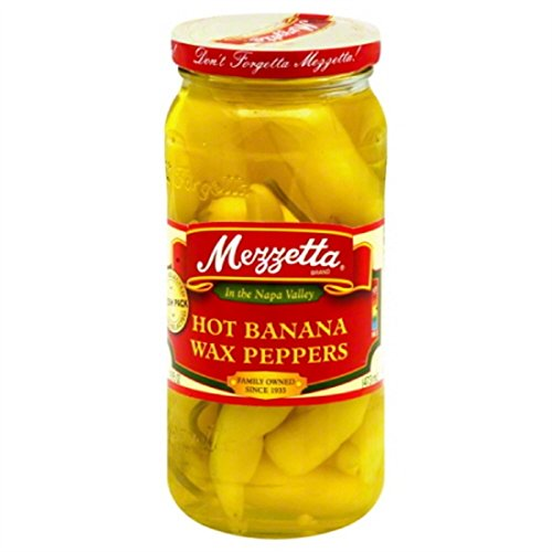 G L Mezzetta Peppers, Wxd Banana Hot, 16-Ounce (Pack of 6) (Mezzetta Hot Banana Wax Peppers compare prices)