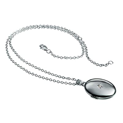 Hot Diamonds Inheritance Silver and Diamond Locket Pendant 41cm+5cm extender
