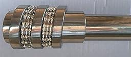 Siena Home Fashions Jewel Curtain Rod Set (24\