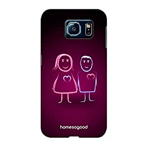 Valentine HomeSoGood Glowing Love Pink 3D Mobile Case For Samsung S6 ( Back Cover)