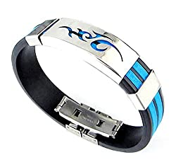 Sorella'z Blue Flame Logo Bracelet for Men's