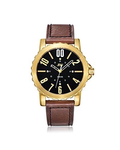 JBW Men's J6321A Parker Diamond Black/Brown Leather Watch