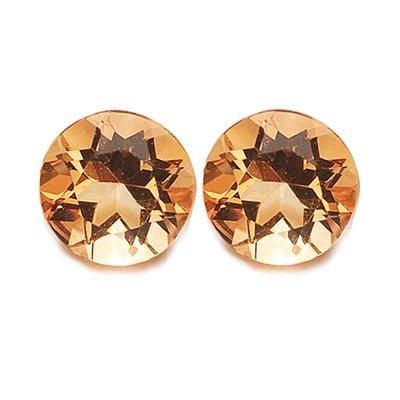 1.90 Cts of AAA 7 mm Round Matching Loose Citrine ( 2 pcs set ) Gemstones