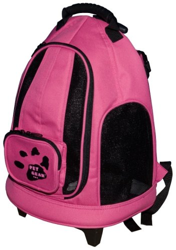 Pet Gear I-GO2 Day Tripper Rolling Pet Backpack for cats and dogs up to 7-pounds, Pink