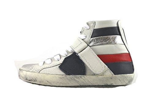PHILIPPE MODEL sneakers bambina bianco pelle AH971 (34 EU)