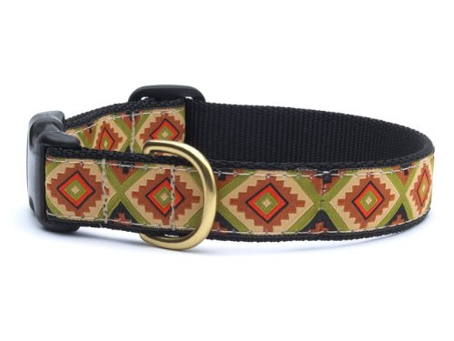 Navaho Dog Buckle Collar - Large (15-21 Inches) - 1 In Width