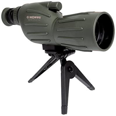 Konuspot 15X-45X50 Zoom Spotting Scope with Mini Tripod-Clam Package by KONUS