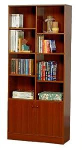 Book Shelf Cabinet Cherry Finish