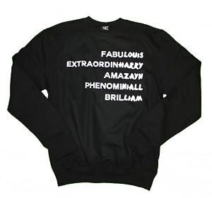 21 Century Clothing Unisex-Adult One Direction 1D Adjectives Sweatshirt
