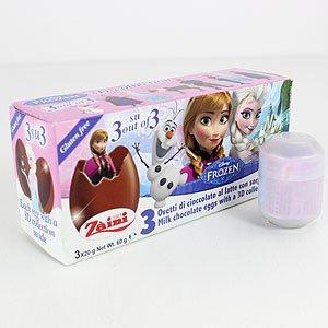 Disney Frozen Zani Xmas Chocolate & 3D Collection Surprise 3 Eggs Random Pack