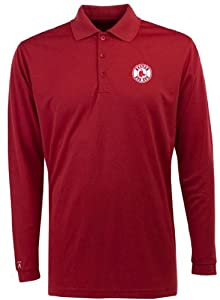 Boston Red Sox Long Sleeve Polo Shirt (Team Color) - XX-Large