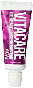 Multicare Whitening Toothpaste, Mint + Acai Extract - 1.0oz Travel Size