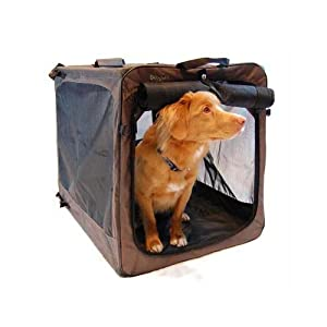 Bergan Canine Soft-Sided Crate, Black and Tan by Bergan