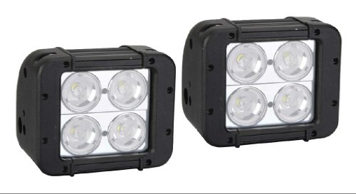 """Virile Industries Pair Of 5"""" 40 Watt (3440 Lumen) Double Row Led Light Bar For Offroad And Marine Applications"""