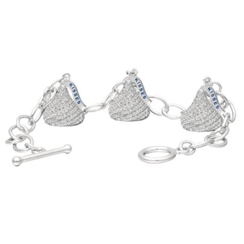 Hershey's Kiss Diamond Toggle Bracelet 3 Charms