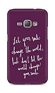 AMEZ let your smile change the world Back Cover For Samsung Galaxy J1 (2016 EDITION)