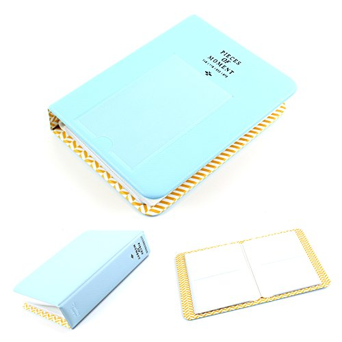 Light Blue Mini Photo Album for Fuji Fujifilm Instax Polaroid Name Card Gifts - 1