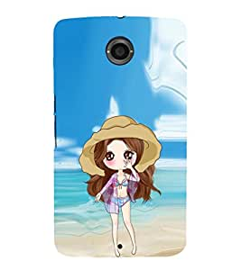 EPICCASE sexy doll Mobile Back Case Cover For LG Nexus 6 (Designer Case)