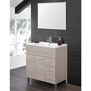 Mobile bagno composizione lavabo ceramica specchio arredo design ...
