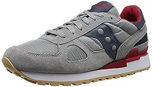 Saucony Originals Men's Shadow Original Retro Shoe, Grey/Red, 8.5 M US