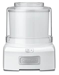 Cuisinart ICE-21 Frozen Yogurt-Ice Cream and Sorbet Maker, White by Cuisinart