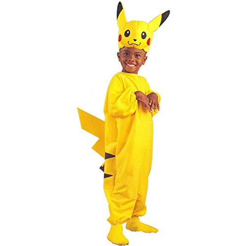 Kid's Pikachu Pokemon Costume (Size:Medium 4-6)