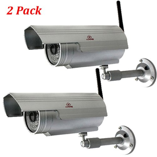 2x KARE N7205JV Outdoor Wireless Security Surveillance IP Network Camera 80FT IR Night Vision