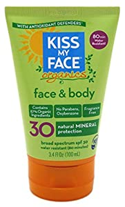 Kiss My Face Spf#30 Organics Face And Body Sunscreen 3.4oz