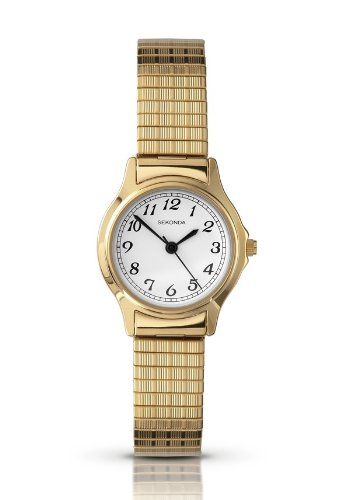 Sekonda Ladies White Dial Gold Plated Expanding