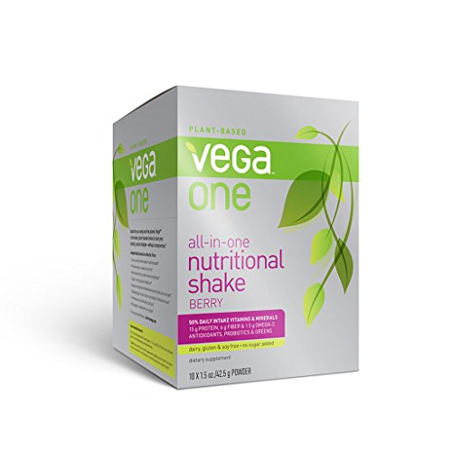 Vega One All-In-One Nutritional Shake, Berry, 10 Count front-288434
