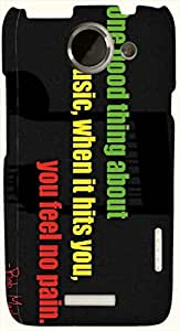 Significant multicolor printed protective REBEL mobile back cover for HTC One X+ ( X Plus ) D.No.N-L-13076-htcX